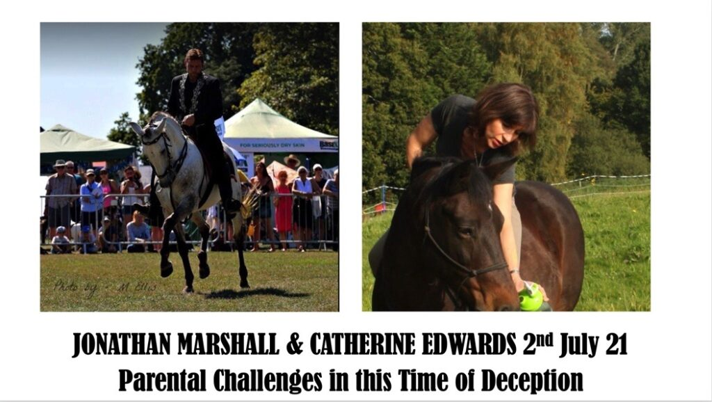 JONATHAN MARSHALL & CATHERINE EDWARDS 2ND JULY: PARENTAL CHALLENGES & HOW TO COPE WITH RIDICULE
